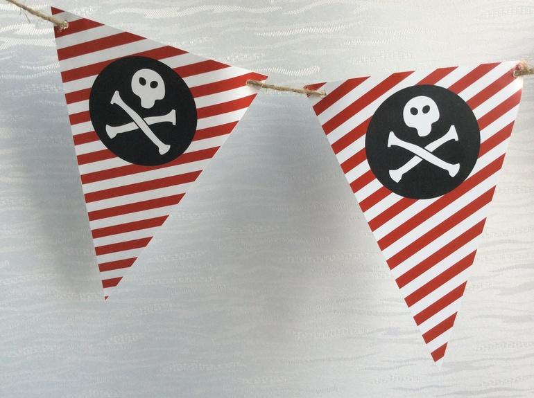 Украшение на пиратский день рождения своими руками