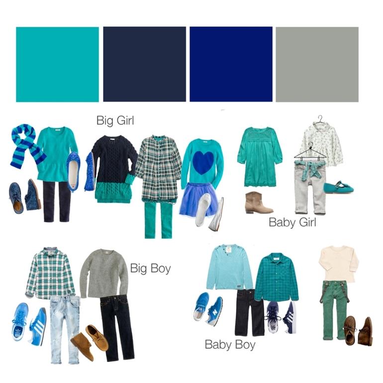 Семейная фотосессия выбор одежды