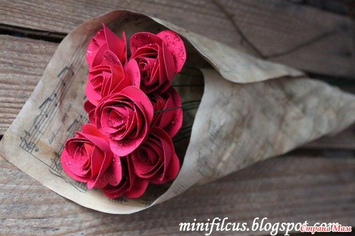 Сделать бумажные цветы своими руками 812