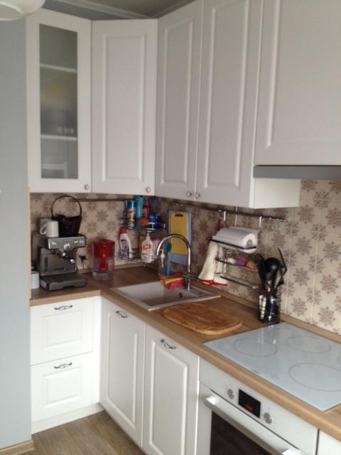 Кухня в двушке П-44 со «Стильными кухнями», МСК-Строй, Леруа-Мерлен