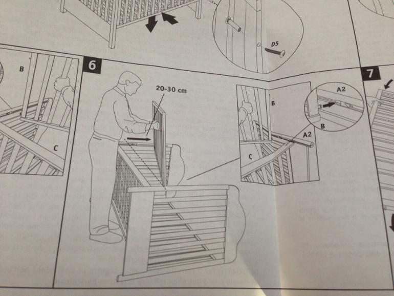 Инструкция по сборке кроватки пали