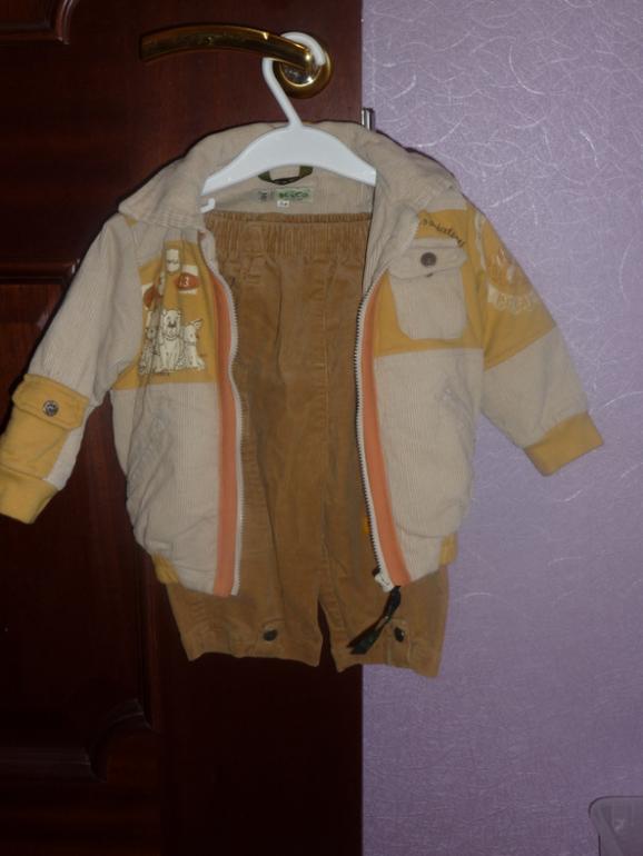 Модный вельветовый костюм Kico унисекс 74 размера- 900 руб.