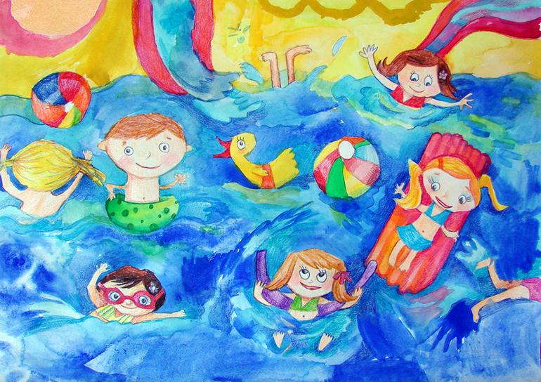 Как нарисовать аквапарк карандашом поэтапно аквапарк