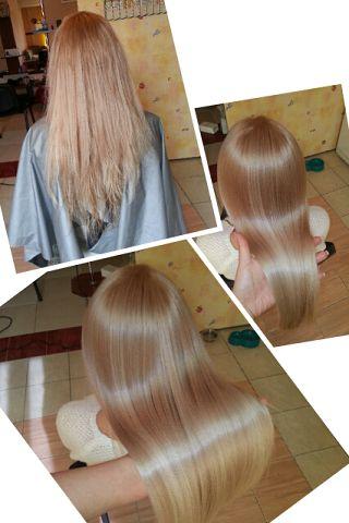 Лечение-выпрямление волос