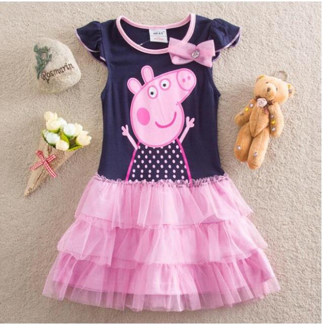 Купить детское платье со свинкой пеппой