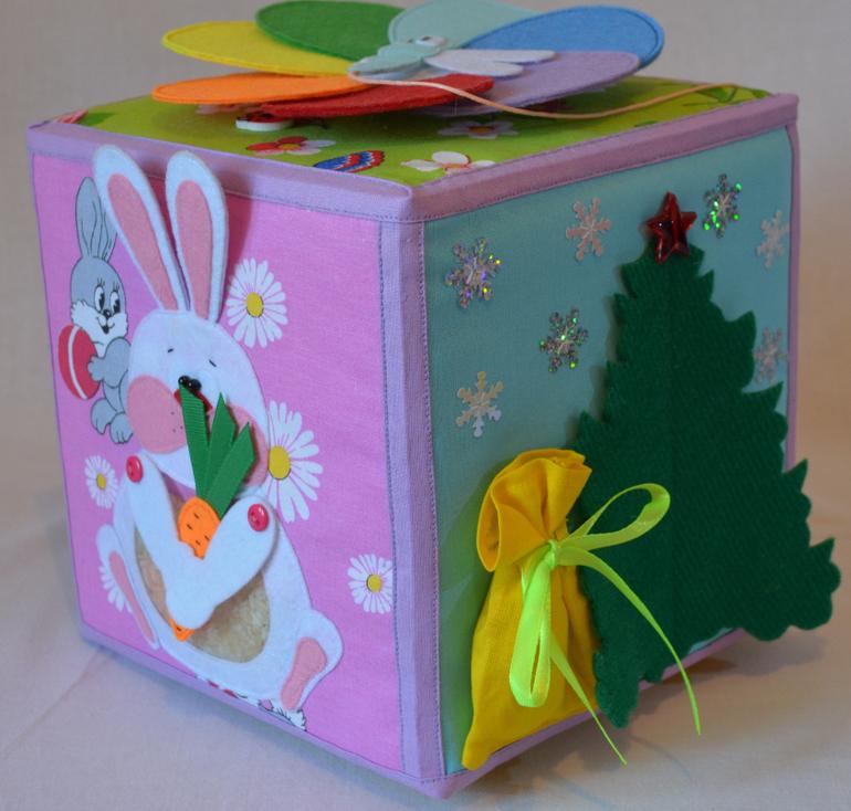 Развивающийся кубик для детей своими руками 75