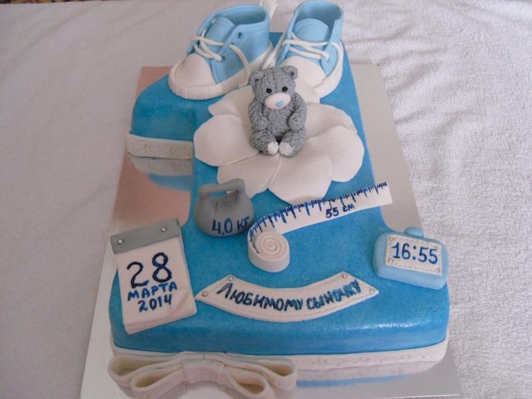 Дизайн торта на один год