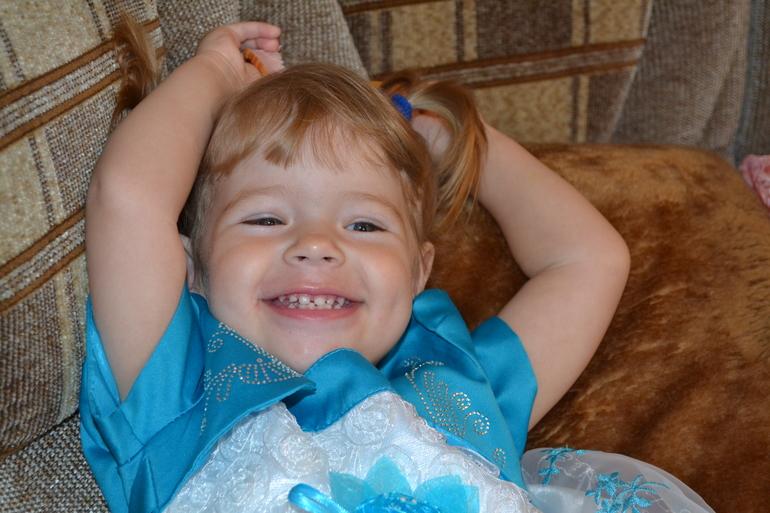 Нашей любимой доченьке 2 годика