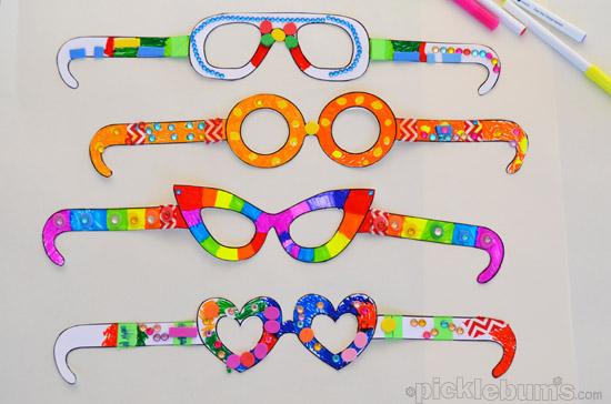 Как сделать смешные очки своими руками