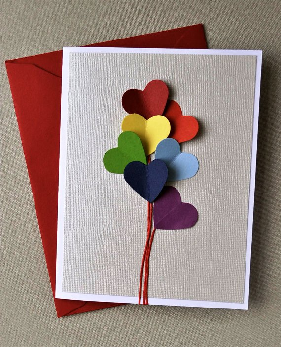 Как сделать красивую открытку маме на день рождения