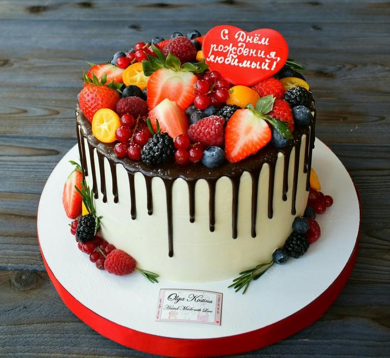Украсить торт любимому своими руками 63