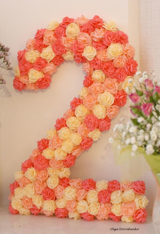 как украсить цифру на день рождения