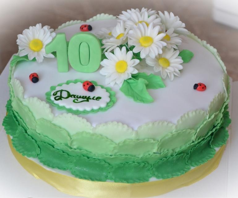 Весенний  торт  для  девочки  на  10  лет