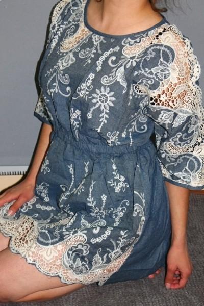 Платья из джинса и кружева