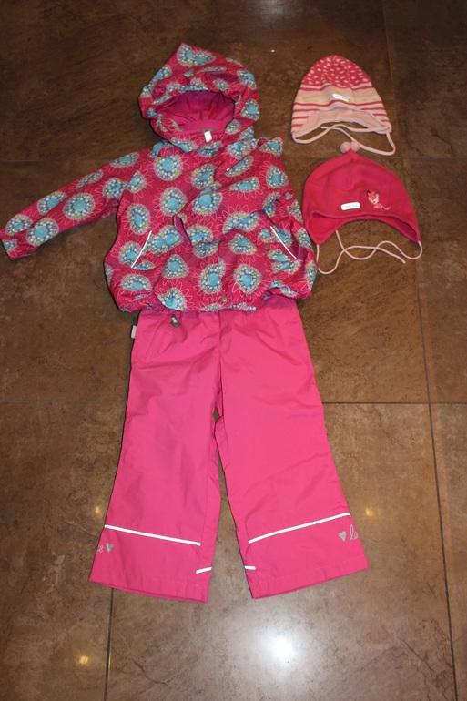 Комплект REIMA TEK (куртка+полукомбезик+непромокашки на резинке+2 шапочки) на межсезонье на 86рост