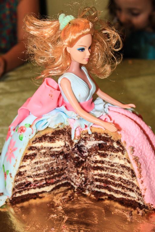 Торт с куклой 4