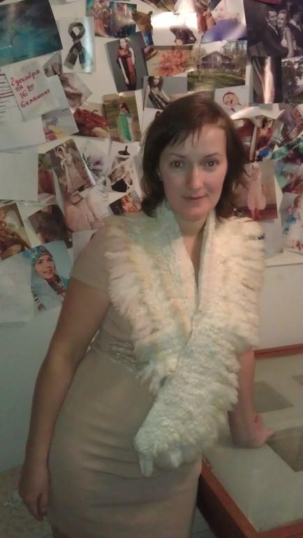 Воротник - горжетка - шарф из овечки!