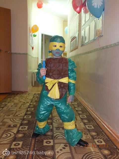 Экологический костюм своими руками для мальчика