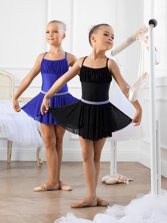 Купальники с юбкой для танцев для детей