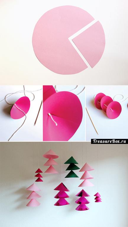 Как сделать из бумаги гирлянду на новый год видео