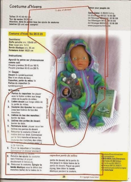 Как сшить комбинезон для куклы своими руками выкройка