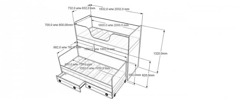Кровать с выдвижным спальным местом своими руками чертежи 50
