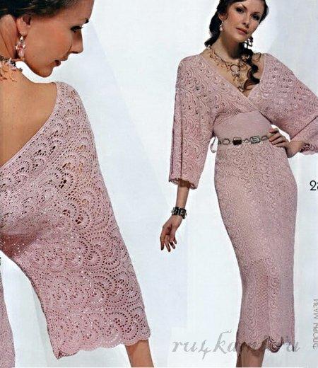 Модели платьев вязанных