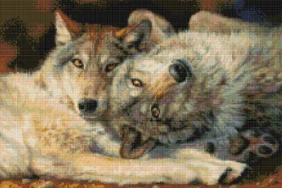 Волк вышивка приметы