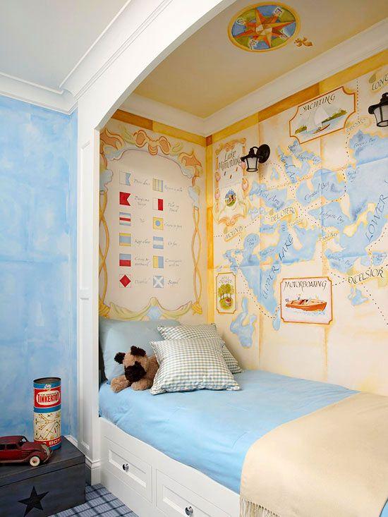 теплового удара интерьер комнаты с нишей как детская становится неотъемлемой частью