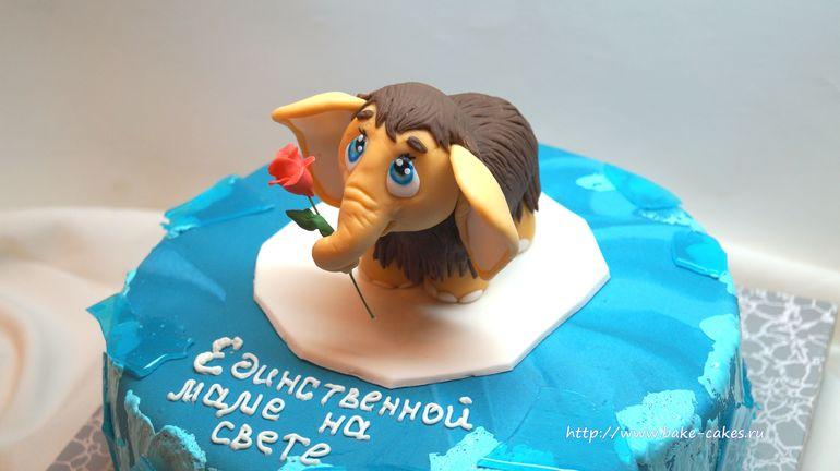 Как сделать мамонтенка на торт