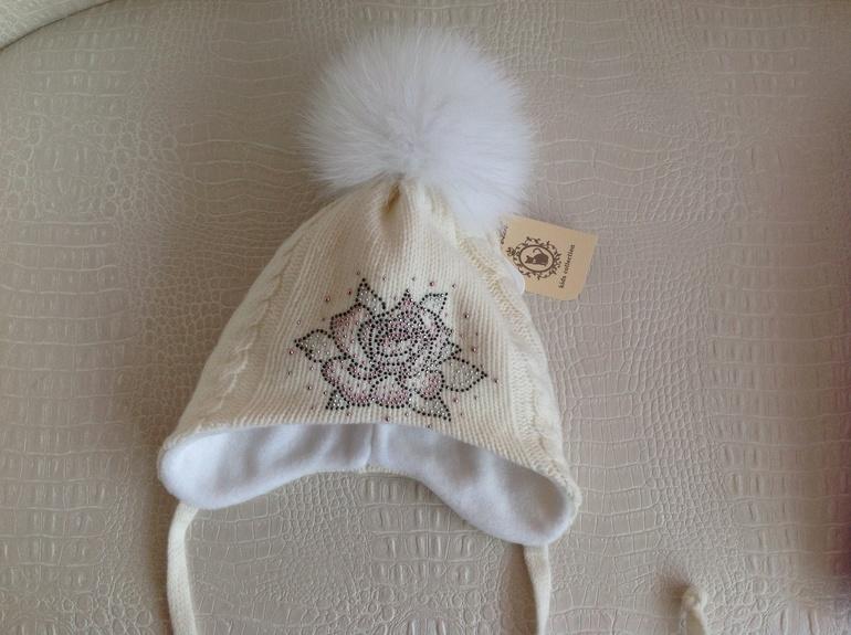Продам шапочку Аделина размер 52( маломерит на 48-50)