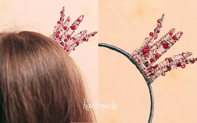 Ободок с короной своими руками