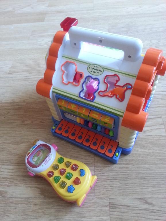 Развивающий домик+умный телефон