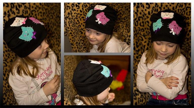 Модные шапки из трикотажа своими руками