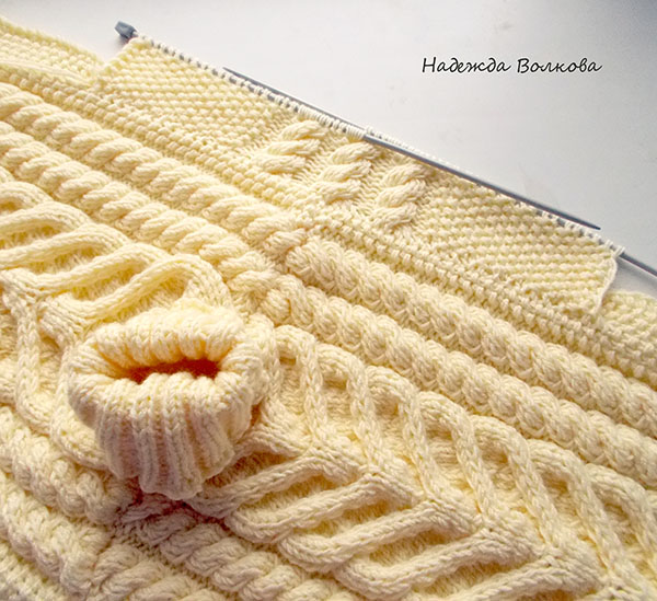 Вязание полувер для мальчика косы