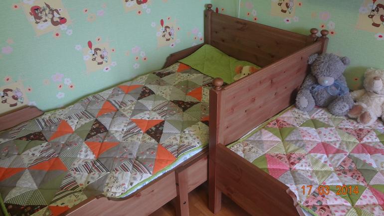 Покрывало детскую кровать своими руками