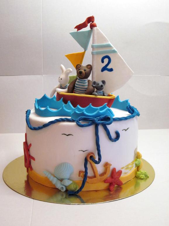 Торт на морскую тему фото