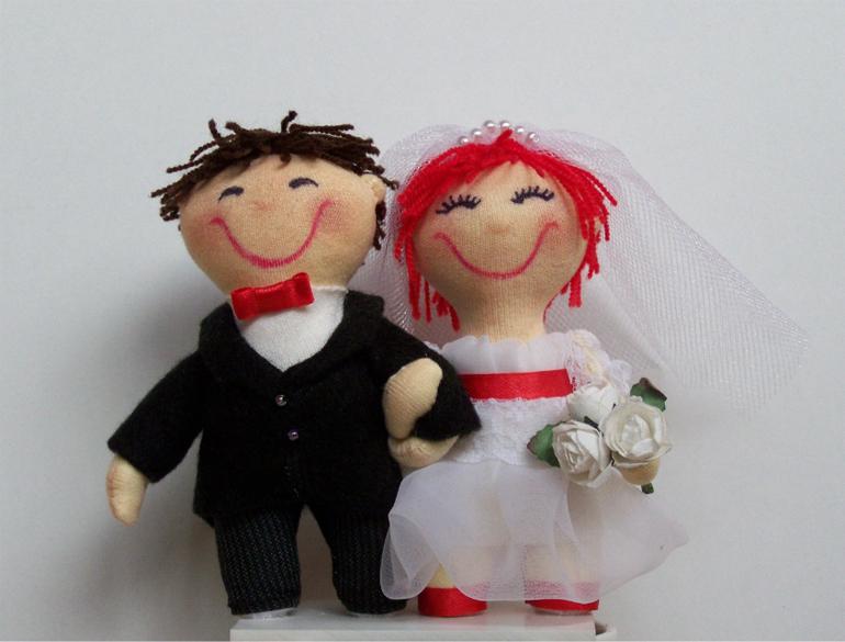 Куколки на свадебный торт