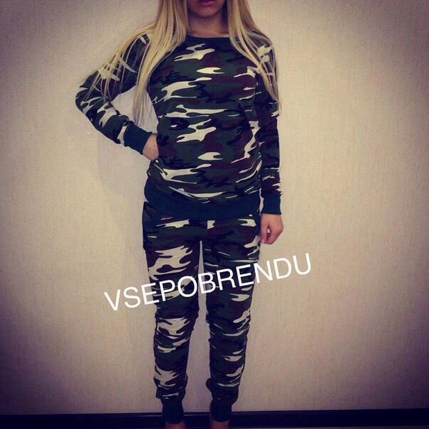 Спортивный костюм военный женский