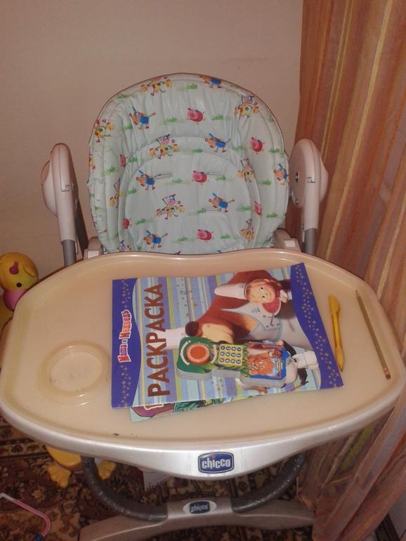 продам детский стульчик chicco polly