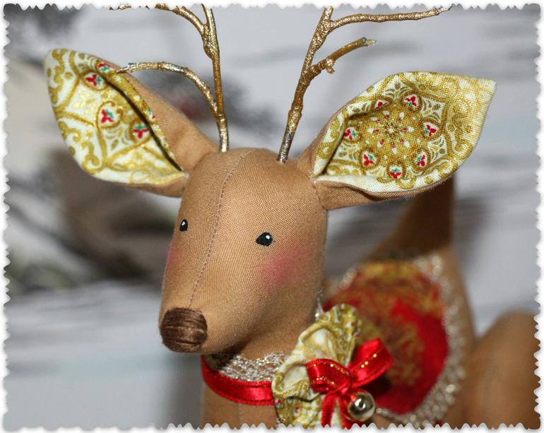 Как сшить оленя рождественского