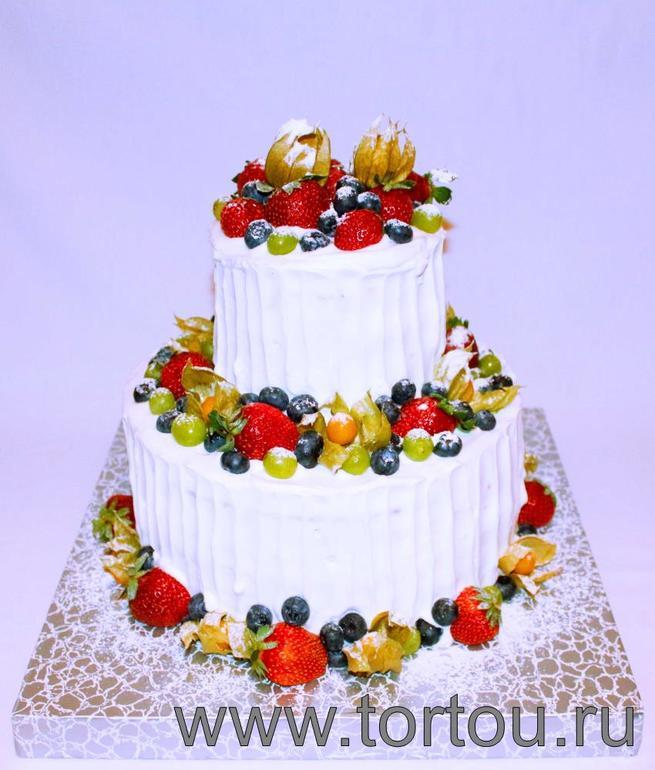 Торт кремовый на свадьбу с фото
