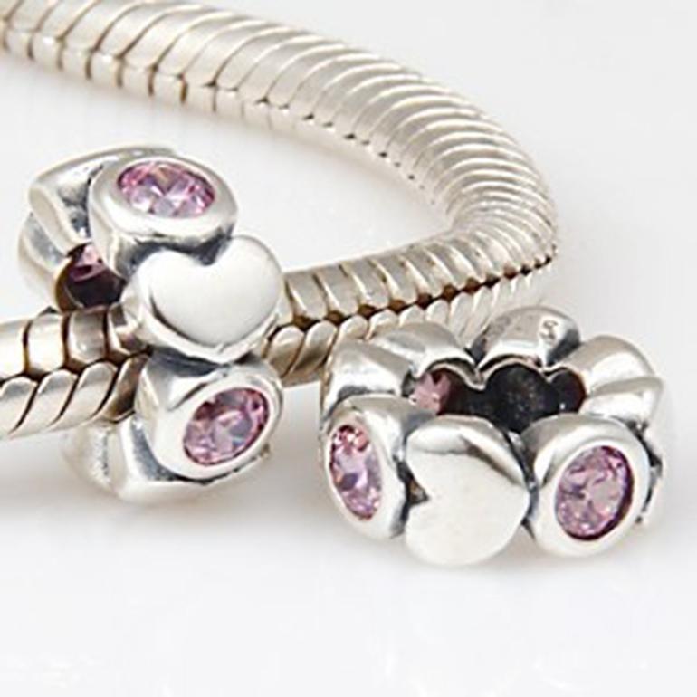 санлайт серебряные браслеты с шармами
