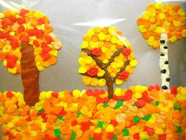 Осенние поделки из пластилина
