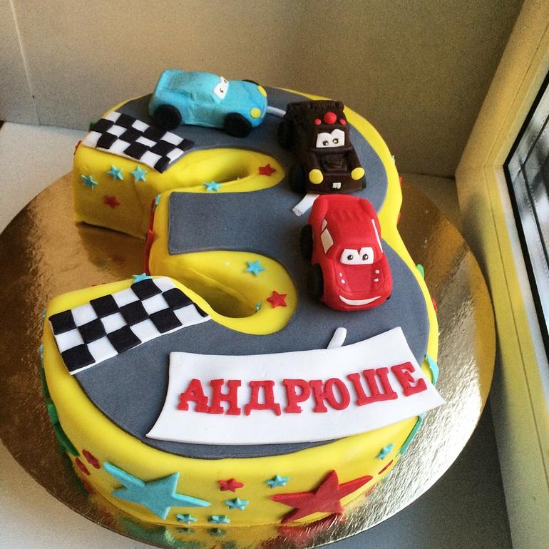 Торт цифра три фото