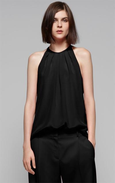 Блузка Черная Без Рукавов