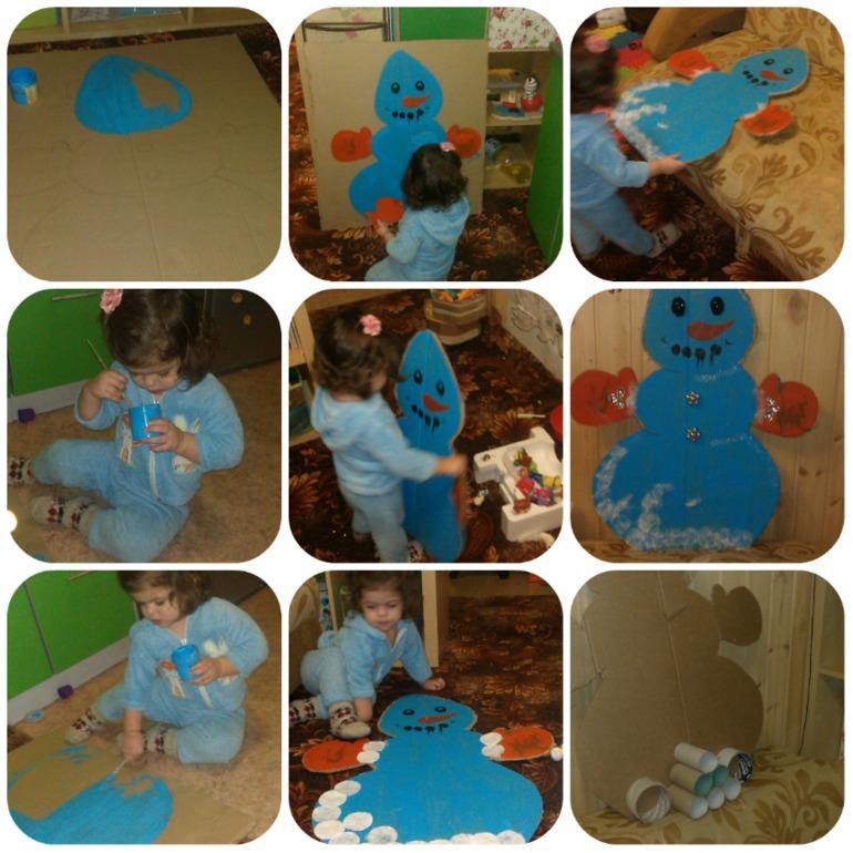 Адвент-снеговик