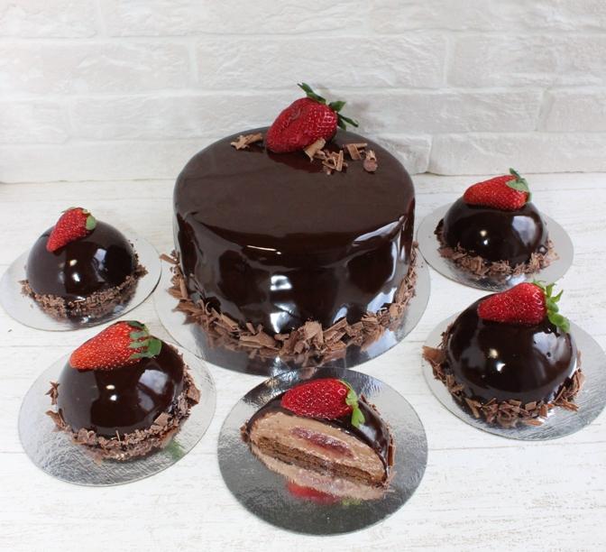 Шоколадная зеркальная глазурь для торта рецепт61