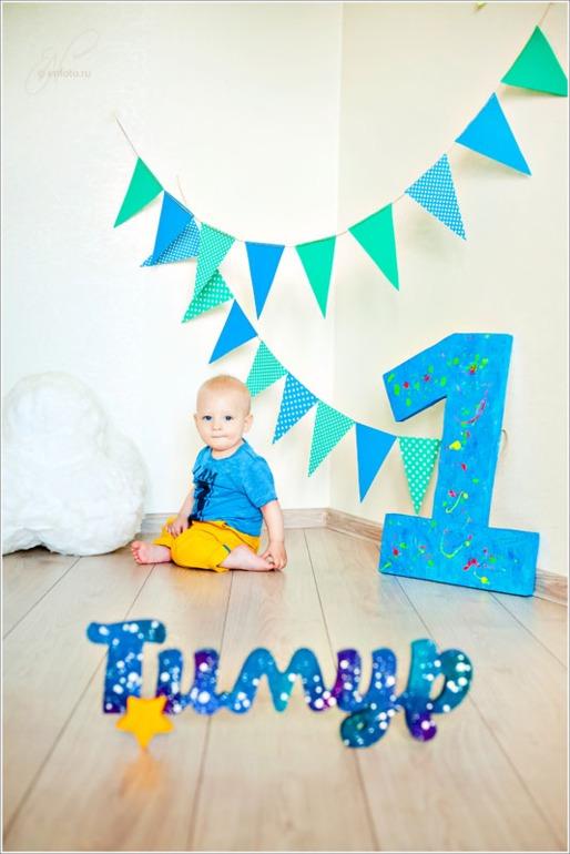 Цифры для оформления дня рождения своими руками