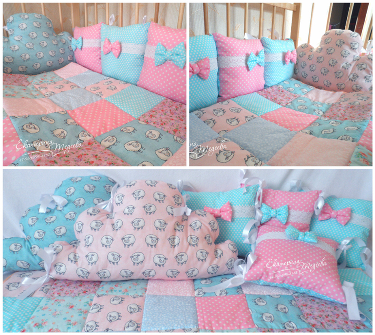 Детская подушка своими руками в кроватку 95
